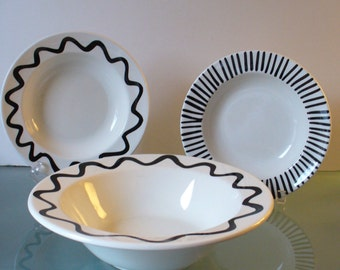 Made in Italy Black and White Bowls (5)