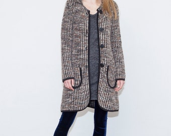 Sale, Wool coat, Wool jacket, Brown and sparkle light coat, Womens coat, Womens jacket, Valentines day ideas, Winter coat, Fall coat