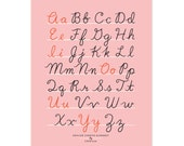 Small Fry Cursive Alphabet - Blush 11x14
