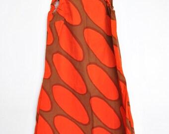 Marimekko Mini Dress Linssi Kaarina Kellomäki Mod Op Red Geometric