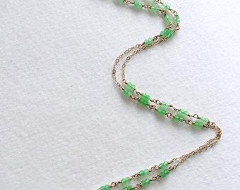 Chrysoprase Pendant Necklace by KarenWhalenDesigns