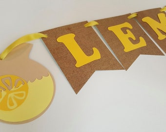 Lemonade Banner Lemonade stand sign lemon banner