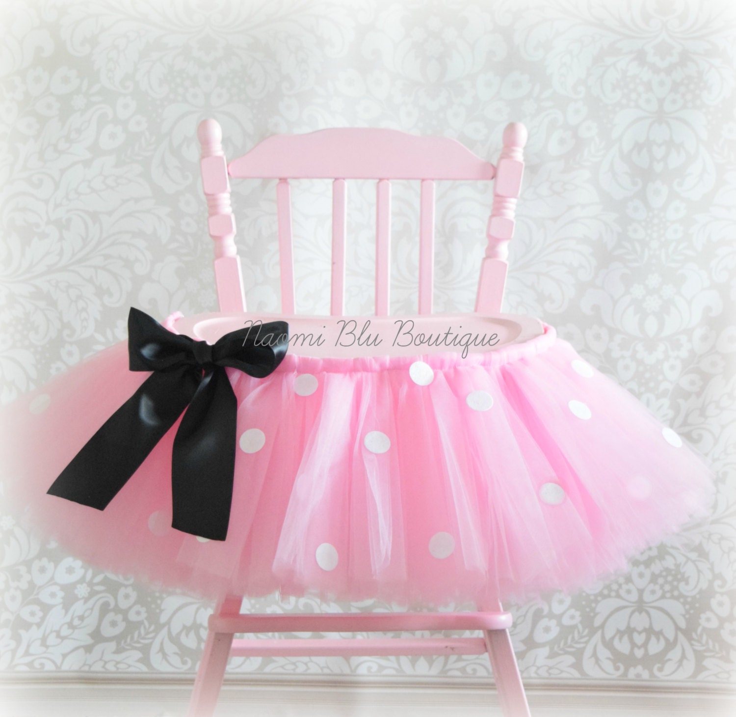 Inspired by Minnie Mouse High Chair Tutu in Pink Birthday