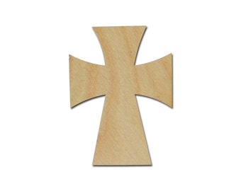 "Unfinished Wood Cross Wooden Craft Crosses Cut Out Stainable Paintable part C11-125    11"" inch"