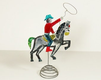 Vintage Mexican Tin Cowboy