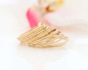 Thin Gold Ring | Petite stacking ring | Delicate gold rings | Graduation gift