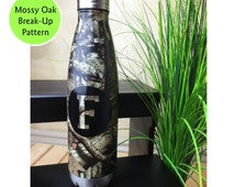 Qty 12 - Stainless Steel Water Bottle, 26oz, Mossy Oak Break Up, Camo Water Bottle, Groomsmen Gift, Hunting Gifts for Men, Hunting Girl