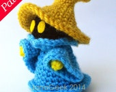 Final Fantasy-inspired Black Mage Amigurumi Doll Crochet Pattern featured image