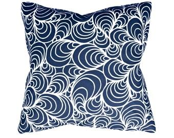 Beach House Mussel Pillow in Navy | Coastal Home Decor by Garson Jasper