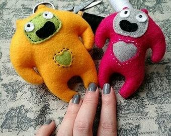 Jojo and Babs Dooberling handmade pocket critters