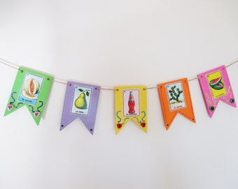 Mexican Loteria Wood Banner
