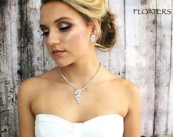 Bridal Jewelry Set, Wedding Cubic Zirconia Jewelry Set, Wedding Necklace, Bridal Necklace, Crystal Jewelry Set, Wedding Jewelry