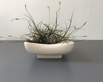 vintage bone white matte McCoy low planter