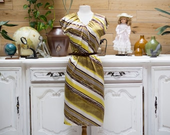 Vintage 1970's Yellow Summer Dress