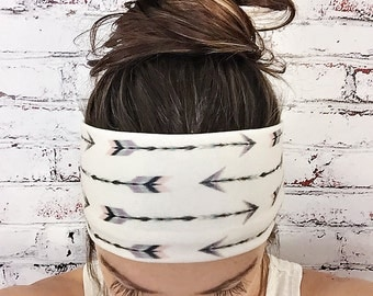 Yoga Headband - Go Your Own Way - Cream - Boho Headband