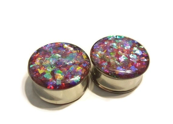 Dream Shard Plugs Double Flare or Single Flare sizes 2g- 2 Inches