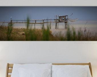Boat canvas art/beach house decor/large canvas art/nautical decor/beach cottage decor/beach artwork/coastal wall art/sea photography