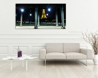 Paris Photography Canvas Art/skyline Landscape Paris Decor Eiffel Tower  Decor/paris Bedroom Decor