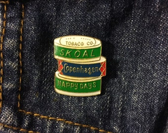 Skoal Chewing Tobacco Lapel Pin / Hat Pin VINTAGE