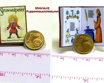 Struwwelpeter - engl. miniaturebook for doll house scale 1/12 -