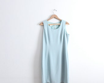 Pale Blue Luxe 90s Shift Dress