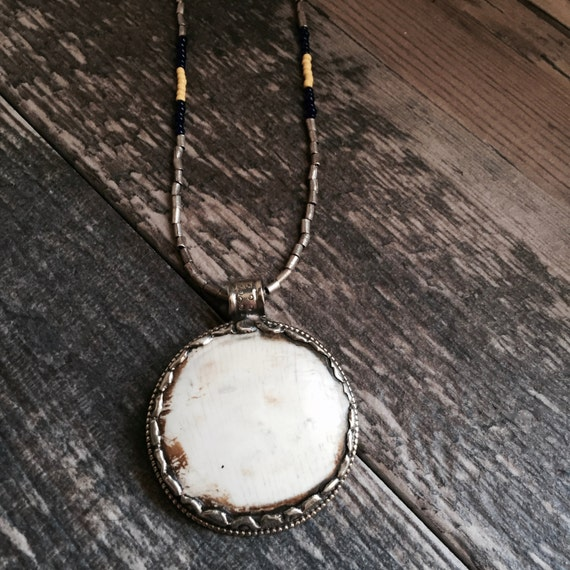 Tibetan Shell Pendant Necklace