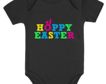 Hoppy Easter Baby Short Sleeve Onesie Bodysuit
