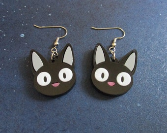 Jiji Cat Face Dangle Earrings