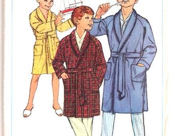 Vintage 1960s Boys Bath Robe Sewing Pattern Size 6 Simplicity 6767