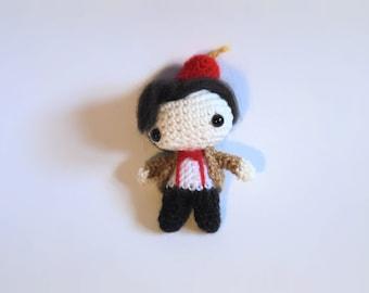 Chibi 11TH DOCTOR WHO Matt Smith doll cute geek/nerd toy