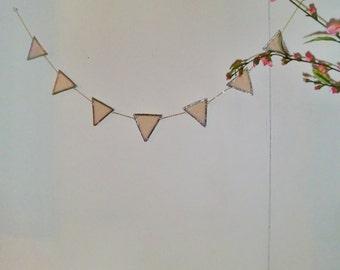 Lovely handmade Stained Glass Celebration/Birthday/Nursery/ Bunting Garland