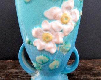 Best Price Sale Roseville White Rose Vase