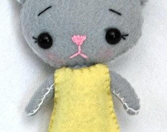 Hand-Sewn Felt Cat Pocket Pet