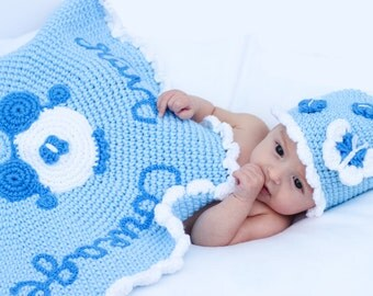 Cinderella Inspired baby Blanket and hat/Have Courage and Be Kind/Cinderella Hat/Princess Blanket/ Princess photo prop/ Newborn photo prop