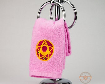 """Sailor Moon """"Compact"""" Inspired - Embroidered Hand Towel"""
