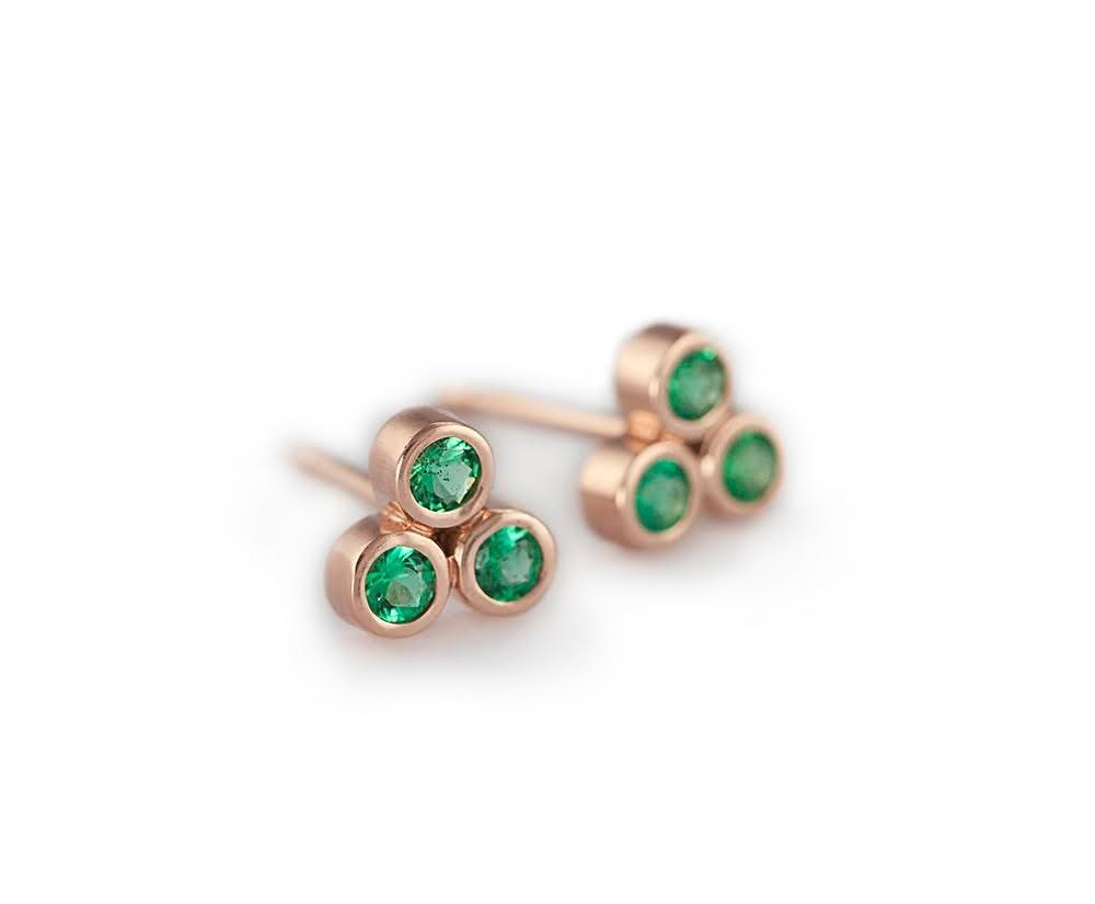 emerald earrings gold emerald earrings emerald stud