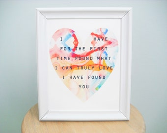 Jane Eyre Bronte Love Quote Watercolor Art Print