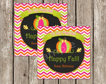 Fall Favor Tags Class Treat Printable - Pumpkin Patch Birthday Party - Editable Instant Download
