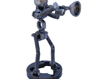 Trumpet Player Sculpture