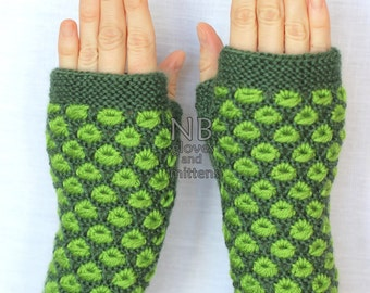 Hand Knitted Fingerless Gloves,  Green, Clothing And Accessories, Gloves & Mittens, Gift Ideas, Accessories,Gifts,For Her, READY TO SHIP,