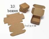 10 Small KRAFT paper BOX 5x5x2 cm (mini tiny gift box merchandise box packing box for men boxes wedding gift wrapping jewelry rings sypply)