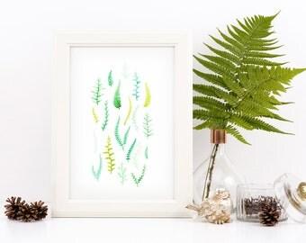 Fern Pattern Print