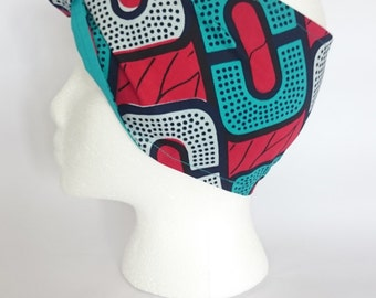 Off Her Dolly Rocker, Colourful Wax Print Headscarf FOR The Bold & Bright