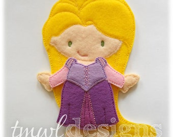 Tower Dress Felt Paper Doll Toy Outfit Digital Design File - 5x7