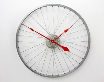 Large Wall Clock, Custom Colours - Bicycle Wheel Clock, bike wheel clock Bicycle Clock, Bike Wall Clock, Unique wall clocks, cycling gift