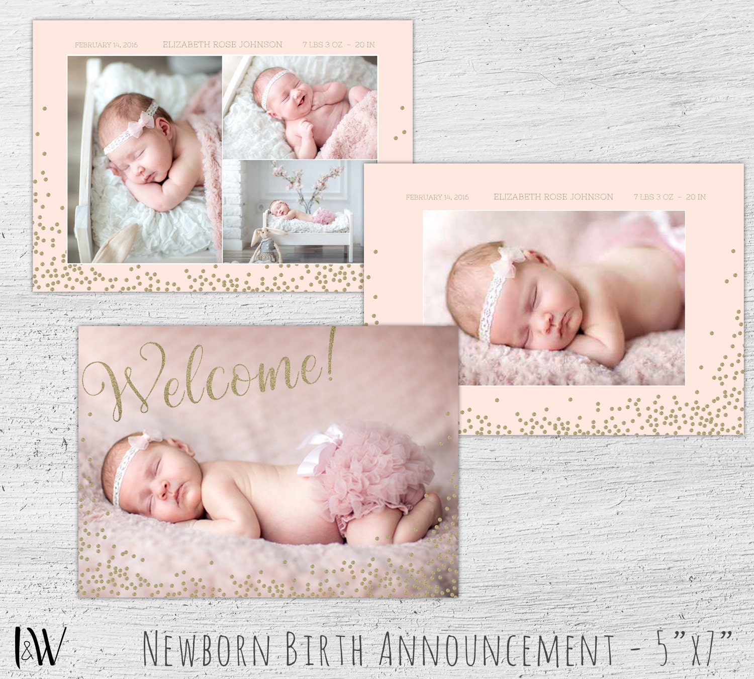 birth announcement template baby birth announcement birth. Black Bedroom Furniture Sets. Home Design Ideas