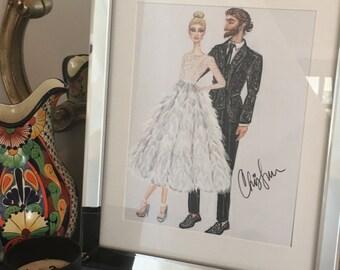Custom Bridal Fashion Sketch