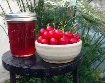 Sour Cherry Jam, pie cherry jam 8 oz jar small batch, hand crafted 8 oz jar, Oregon, Pacific Northwest