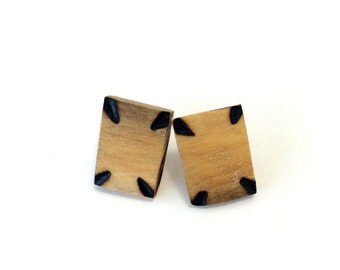 Marquise Wooden Earrings