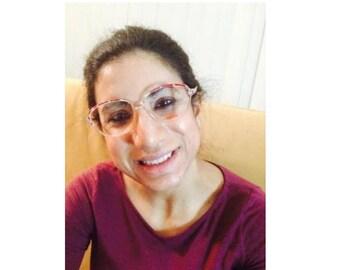 Vintage NIGURA #703F 1980s Round Eyeglasses Frame Women (NRR-08)